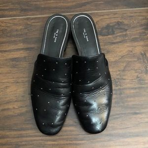 Rag & Bone black studded Luis loafer